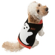 Dogs Halloween Jumper - Medium-X-Large - Ghost