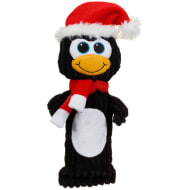 Christmas Cruncher Squeaky Dog Toy - Penguin