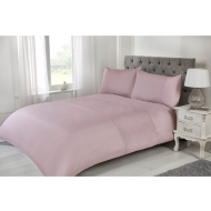 Silentnight Rosie Double Duvet Cover - Mauve