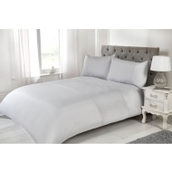 Silentnight Rosie King Duvet Cover - Silver