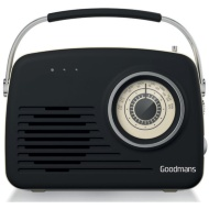 Goodmans Classic AM/FM Retro Radio - Black