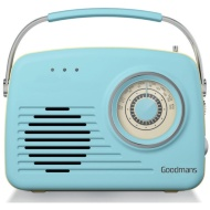 Goodmans Classic AM/FM Retro Radio - Blue