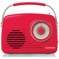 Goodmans Classic AM/FM Retro Radio - Red