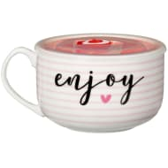 Ceramic Microwaveable Soup Mug - Enjoy