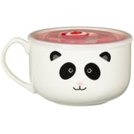Ceramic Microwaveable Soup Mug - Panda