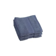 Signature Face Cloth 3pk - Denim