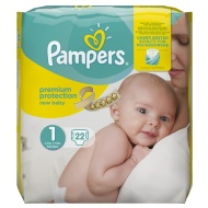 Pampers New Baby Nappies Carry Pack 22pk - Size 1
