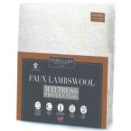 Downland Faux Lambswool Fleece Double Mattress Protector