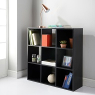 Lokken 9 Cube Cupboard - Black