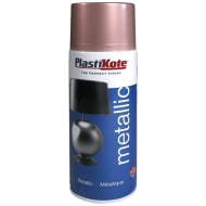 Plastikote Brilliant Metallic Spray Paint 400ml - Rose Gold
