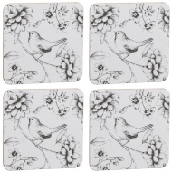 Stylish Coasters 4pk - Birds