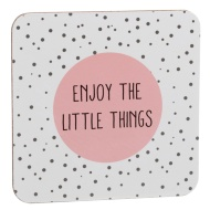Stylish Coasters 4pk - Enjoy the Little Things