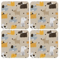 Stylish Coasters 4pk - Dogs