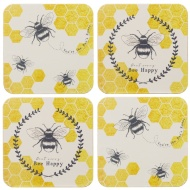 Stylish Coasters 4pk - Bees