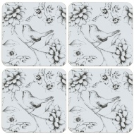 Stylish Coasters 4pk - Bird