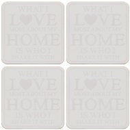 Stylish Coasters 4pk - Love