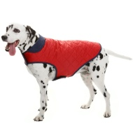 Dog Quilted Jacket - Medium - X-Large - Red
