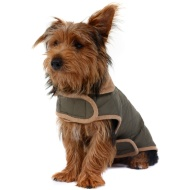 Dog Quilted Jacket - Medium - X-Large - Khaki