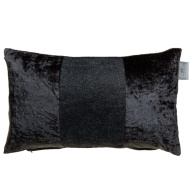 Sparkle Crushed Velvet Cushion - Charcoal