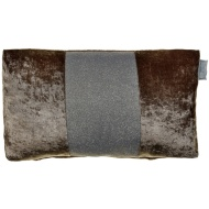Sparkle Crushed Velvet Cushion - Champagne