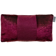 Sparkle Crushed Velvet Cushion - Raspberry