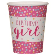 Paper Cups 20pk - Birthday Girl