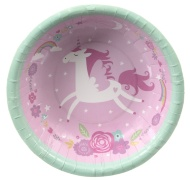 Kids Party Paper Bowls 20pk - Unicorn