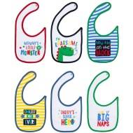 Baby Bibs 6pk - Little Monster