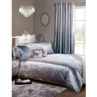 Full Ombre Velvet King Duvet Set - Silver
