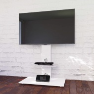 Blaupunkt TV Stand with Brackets - White
