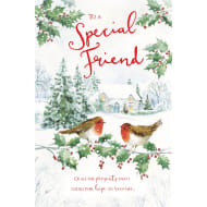 To a Special Friend - Christmas Card