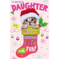 To a Very Special Daughter - Christmas Card