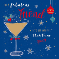 To a Fabulous Friend - Christmas Card