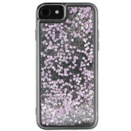Intempo Glitter iPhone 6/7 Phone Case - White & Pink