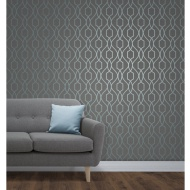 Apex Trellis Sidewall Wallpaper - Blue