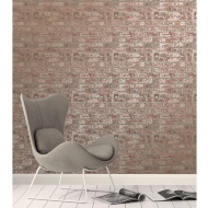Rustic Brick Wallpaper - Metallic