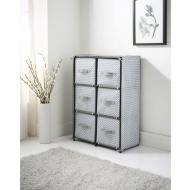 Spaceways 6 Drawer Canvas Unit - Chevron
