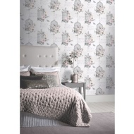 Diamond Birdcage Wallpaper - Neutral