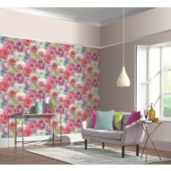Country Garden Wallpaper - Teal
