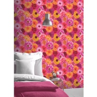 Foil in Bloom Wallpaper - Fuchsia