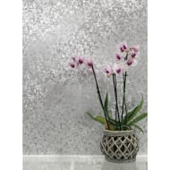 Velvet Crush Foil Wallpaper - Silver