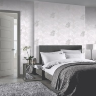 Diamond Palm Wallpaper - Dove Grey