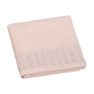 Lurex Pleated Hand Towel - Apricot