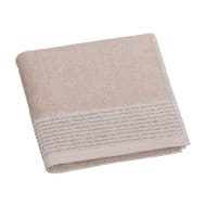 Lurex Pleated Hand Towel - Fawn