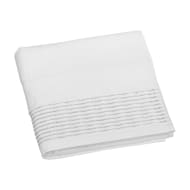 Lurex Pleated Hand Towel - White
