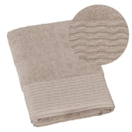 Lurex Pleated Bath Towel - Fawn