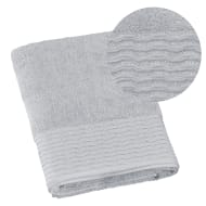 Lurex Pleated Bath Towel - Grey