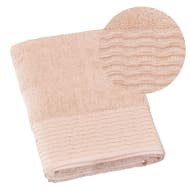 Lurex Pleated Bath Towel - Apricot