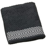 Diamond Sculptured Bath Sheet - Charcoal & White