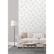 Natasha Floral Wallpaper - Grey